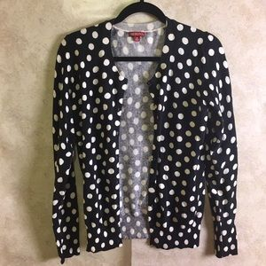 B&W Polka dot cardigan size medium